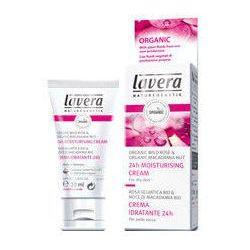 Lavera Faces krem nawilżający z kwasem hialuronowym, wyciągiem z bio dzikiej róży i bio orzechów macadamia 30 ml