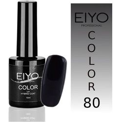Lakier hybrydowy EIYO Secret - Czarny z Czerwoną Poświatą - nr 80 - 15 ml