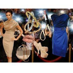 Sukienka mini z szyfonem w stylu Victoria Beckham r.38 dł.88cm, mon 146