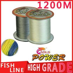 1200M Power Brand PE Multifilament Braided Fishing Line 4 Strands Carp Fishing Spearfishing Rope Cord