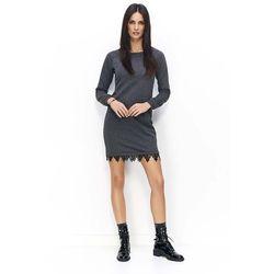fa4f8acd9e suknie sukienki czarna sukienka dzianinowa z dziurami sukienki z ...