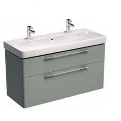 KOŁO szafka + umywalka z 2 otworami na baterie Traffic 90 platynowy połysk 89438+L91590