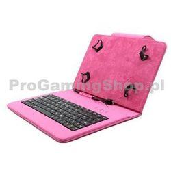 Akcje-FlexGrip Sprawa z klawiatura dla Asus Memo Pad 10-ME103K, Pink