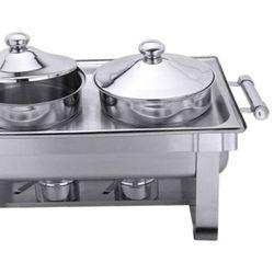 Pojemnik nierdzewny z pokrywką, garnek podgrzewacza do zup, pojemność 4,5l