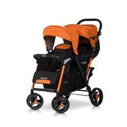 Easy Go Wózek dziecięcy bliźniaczy spacerówka Fusion Electric Orange