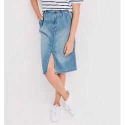 Jeansowa spódnica midi