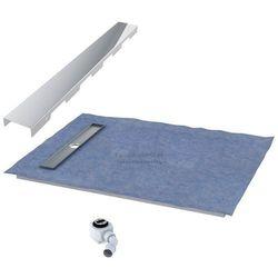 Schedpol podposadzkowa płyta prysznicowa 90x140 cm steel krótki bok 10.012OLKBSL