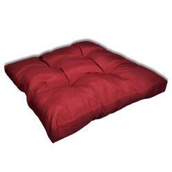 Tapicerowana poduszka do siedzenia, czerwone wino 80 x 80 x 10 cm Zapisz się do naszego Newslettera i odbierz voucher 20 PLN na zakupy w VidaXL!