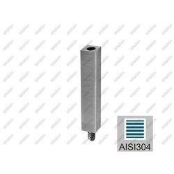 Trzpień nierdzewny M10 AISI304, 40x40x2/14x14/M8/M