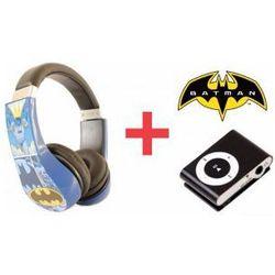 Słuchawki Dla Dzieci Batman + Odtwarzacz MP3 Czarny