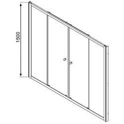 Radaway Vesta DWD zabudowa nawannowa - drzwi przesuwne 150 cm 203150-01