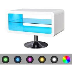 vidaXL Stojak na telewizor, biały, LED, 80 cm Darmowa wysyłka i zwroty