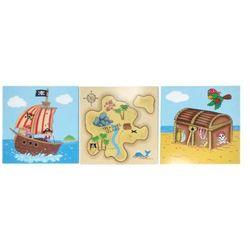 F.FIELDS Piraci Obrazki Na Ścianę Zestaw 3 Obrazków
