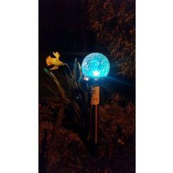 Lampa ogrodowa LED SOLARNA POLUX KULA SL2302S(mini) RGB szklana