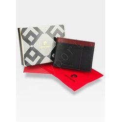 c739dbfa2c3e9 Modny Portfel Męski Pierre Cardin Oryginalny Skórzany Tilak14 8806 RFID -  czarny + czerwony