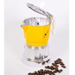 Kawiarka Top Moka TOP 3 filiżanki - srebrno żółta