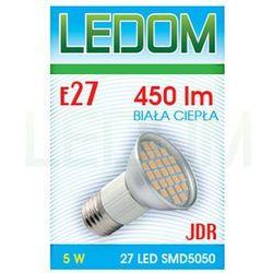 Żarówka - lampa LED E27 SMD5050 27 JDR 230V 5W biała ciepła
