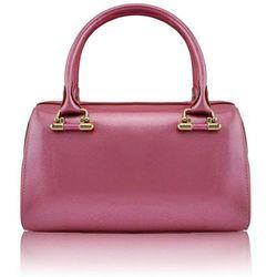 Efektowny lakierowany różowy kuferek PINK - różowy