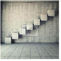 Fototapeta Streszczenie betonowe schody