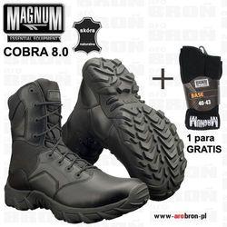 30389910 Buty taktyczne Magnum COBRA 8.0 BLACK - czarne, dla służb mundurowych  ZESTAW: + SKARPETY