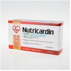 Nutricardin kapsułki - 30 sztuk - korzystnie wpływa na poziom cholesterolu - lekko uszkodzone opakowanie papierowe Kurier: 13.75, odbiór osobisty: GRATIS!