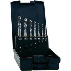 Zestaw gwintowników maszynowych przelotowych HSSE Exact, nakrój B, DIN371, 7 szt.