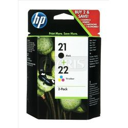 HP Tusz HP21+HP22=SD367AE, Zestaw Bk+Kolor, C9351AE+C9352AE