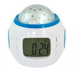 Budzik zegar z projektorem projektor gwiazd 10 melodi