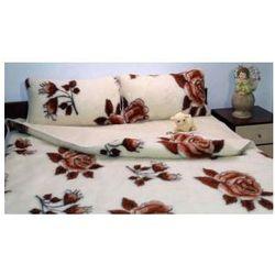 Merynos 180x200 45x75 kwiat kołdra poduszki wełna