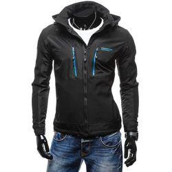 Czarno-niebieska kurtka męska przejściowa Denley 2349 Kurtki i Płaszcze 129.99 (-24%)
