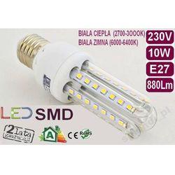 ŻARÓWKA energooszczędna 54 LED 10W=100W E27 CIEPŁA