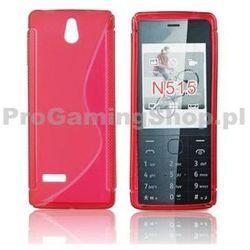 Silicone Case for Nokia 515, czerwony