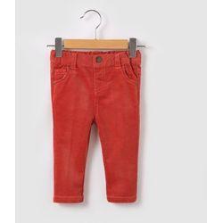 Proste welurowe spodnie 1 miesiąc - 3 lata