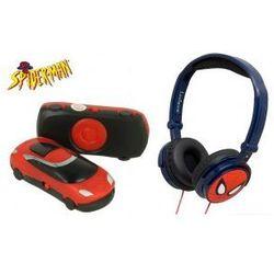 Słuchawki Nauszne Dla Dzieci Spiderman + MP3 Czerwony