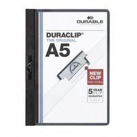 Skoroszyt zaciskowy DURABLE A5 1-30 czarny