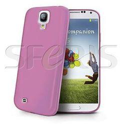 CELLY Galaxy S4 silikonowe etui- różowe GELSKIN290P