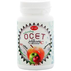 MY LIFE 100szt Ocet jabłkowy z witaminą C w tabletkach Suplement diety
