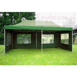 Pawilon 3 x 6 m - Zielony namiot automatyczny + ścianki
