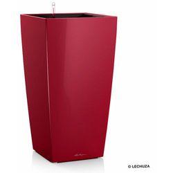 Donica Lechuza CUBICO - scarlet red - 50 x 50 x 95 cm, połysk - scarlet red