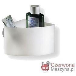 Pojemnik łazienkowy Authentics Basics biały przezroczysty, narożny