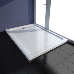vidaXL Brodzik prysznicowy prostokątny ABS biały 80 x 110 cm Darmowa wysyłka i zwroty