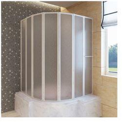 Kabina prysznicowa ścienna, parawan na wannę (140 x 168 cm), składana Zapisz się do naszego Newslettera i odbierz voucher 20 PLN na zakupy w VidaXL!