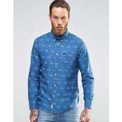 Lee Denim Diamond Print Shirt Buttondown - Blue