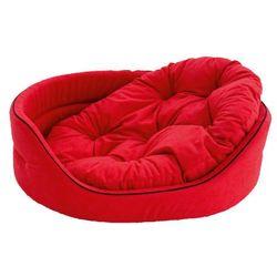 KRAKVET Legowisko lamowane z poduszką nr 3 53x44x16 cm kolor: czerwony