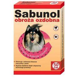 DR SEIDEL Sabunol - ozdobna obroża przeciw pchłom i kleszczom dla psa różowa 50cm