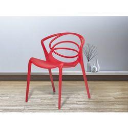 Krzeslo do ogrodu czerwone - krzeslo do jadalni, do salonu - BEND