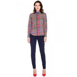 Bawełniana koszula w kolorową kratkę - Sobora
