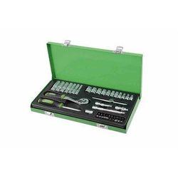 """PROTECO Zestaw kluczy 1/4"""" w metalowej walizce - 45 elementów 43.SN-14-A11 (ZNALAZŁEŚ TANIEJ - NEGOCJUJ CENĘ !!!)"""