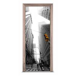 Naklejka na drzwi - Ulica w Nowym Yorku 7256