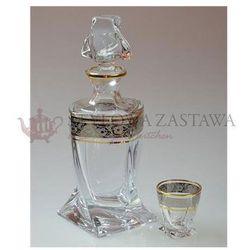 Karafka+6 kieliszków wódka 0,5l QUADRO złoto platyna Bohemia